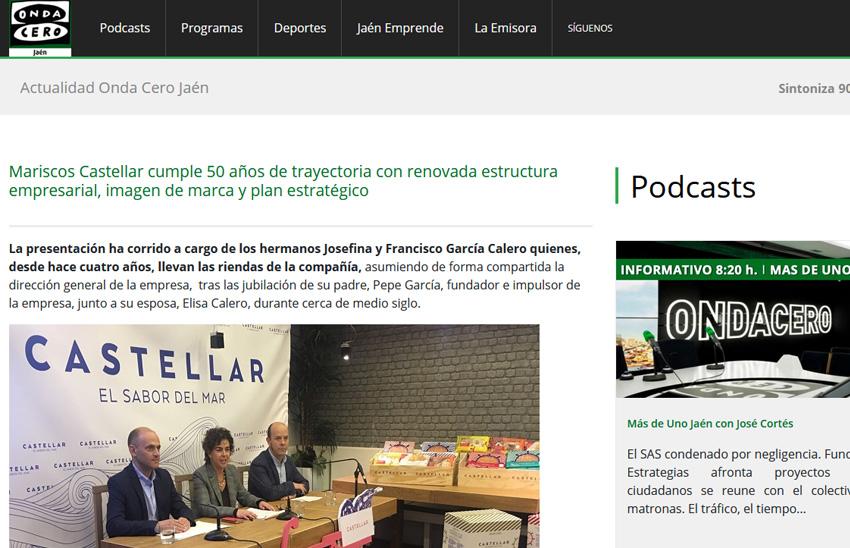 ONDA CERO – Mariscos Castellar cumple 50 años de trayectoria con renovada estructura empresarial, imagen de marca y plan estratégico