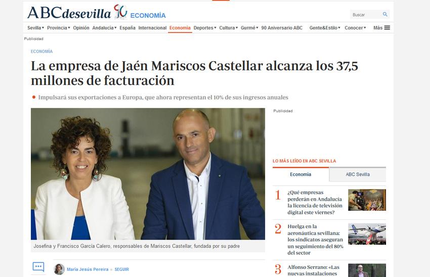 ABC – La empresa de Jaén Mariscos Castellar alcanza los 37,5 millones de facturación