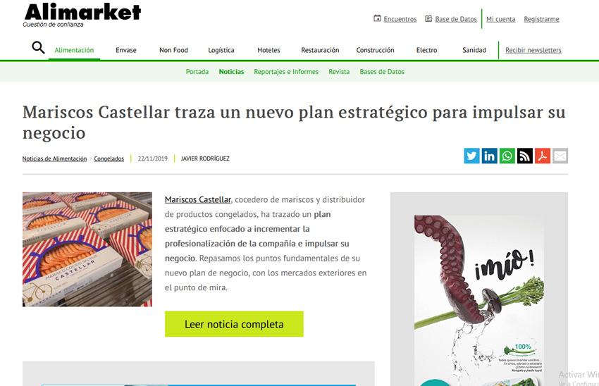 ALIMARKET – Mariscos Castellar traza un nuevo plan estratégico para impulsar su negocio