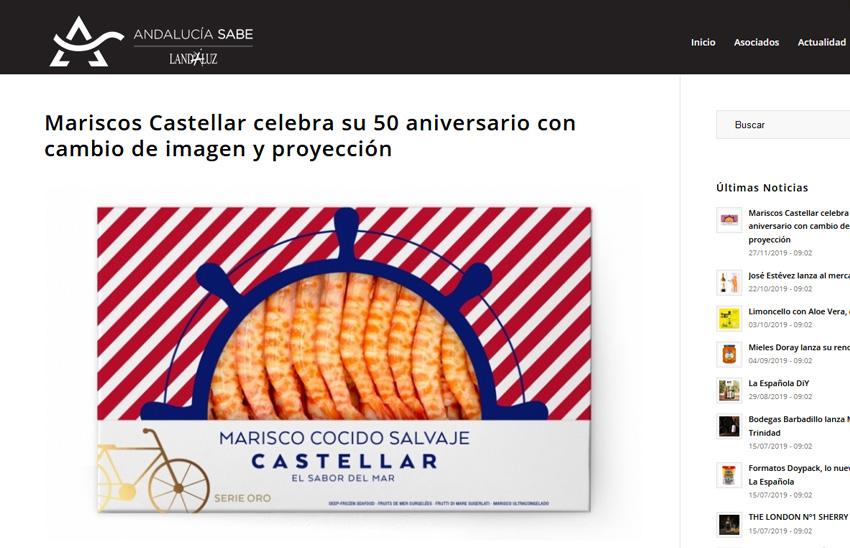 ANDALUCIA SABE – Mariscos Castellar celebra su 50 aniversario con cambio de imagen y proyección –