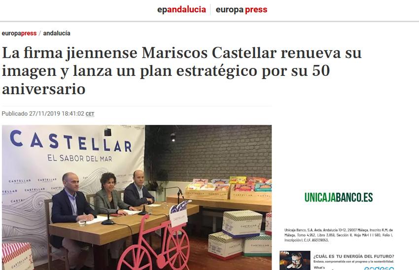 Europa Press – La firma jiennense Mariscos Castellar renueva su imagen y lanza un plan estratégico por su 50 aniversario