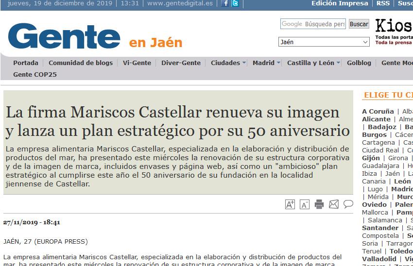 GENTE EN JAÉN – La firma Mariscos Castellar renueva su imagen y lanza un plan estratégico por su 50 aniversario