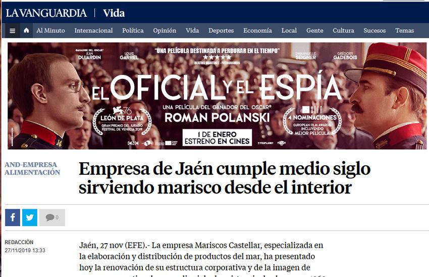 La Vanguardia – Empresa de Jaén cumple medio siglo sirviendo marisco desde el interior
