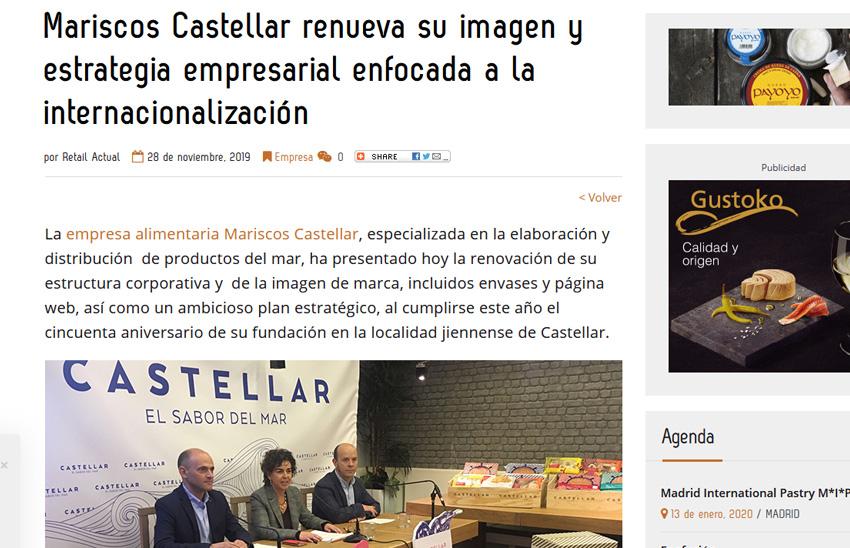 RETAIL ACTUAl – Mariscos Castellar renueva su imagen y estrategia empresarial enfocada a la internacionalización