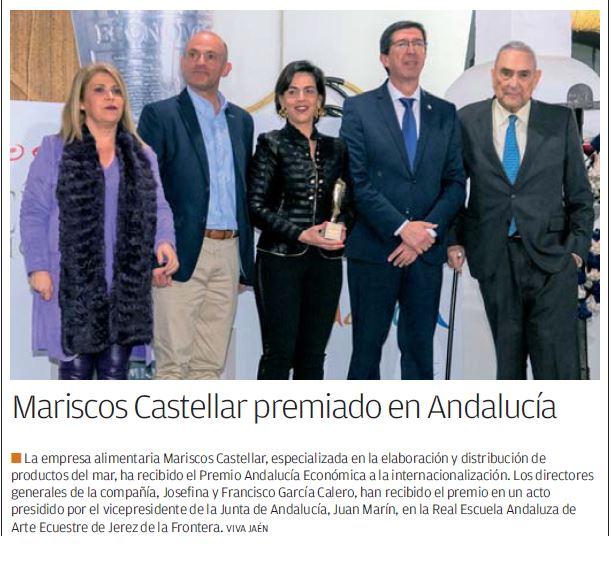 VIVA JAÉN- Mariscos Castellar premiado en Andalucía.