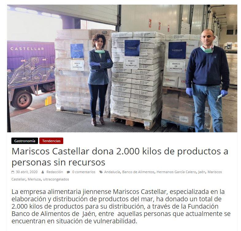 ORIGEN- Mariscos Castellar dona 2.000 Kg de productos a personas sin recursos.
