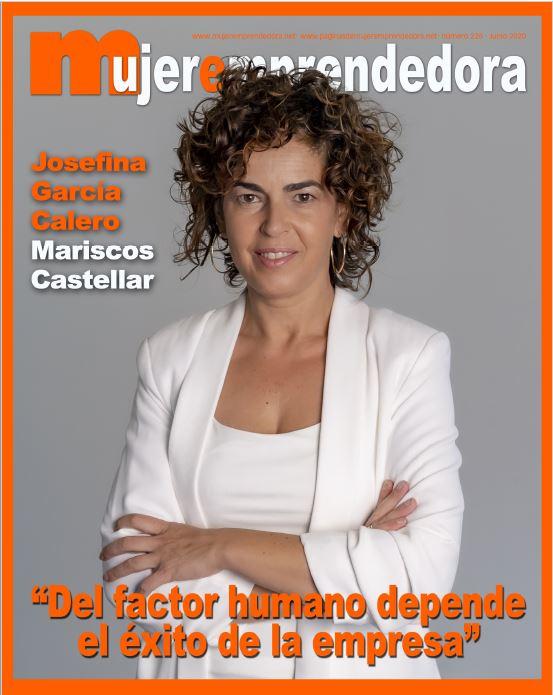 MUJER EMPRENDEDORA-Portada y entrevista a Josefina García Calero, Mariscos Castellar.