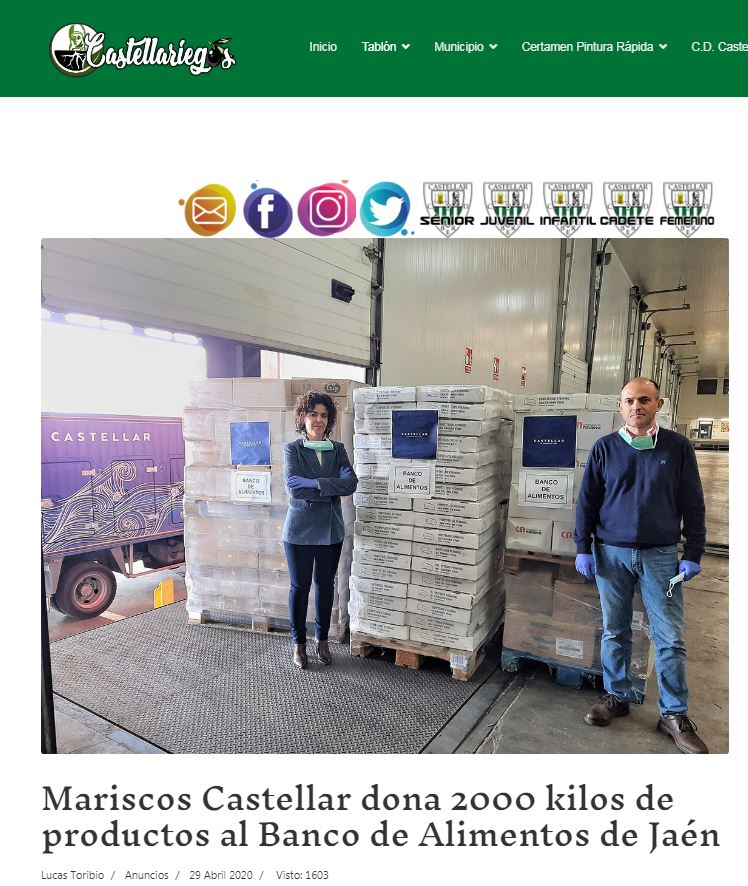 CASTELLARIEGOS-Mariscos Castellar dona 2.000 kilos de productos al Banco de Alimentos de Jaén