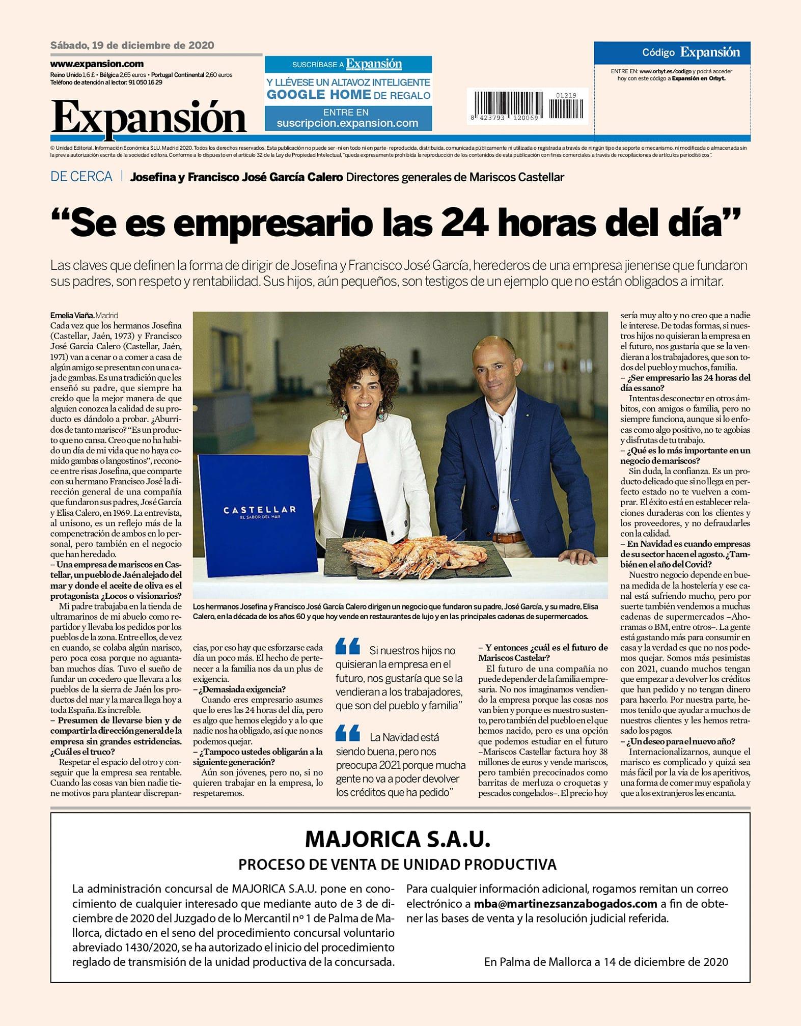 """EXPANSIÓN- """"Se es empresario las 24 horas del día"""""""