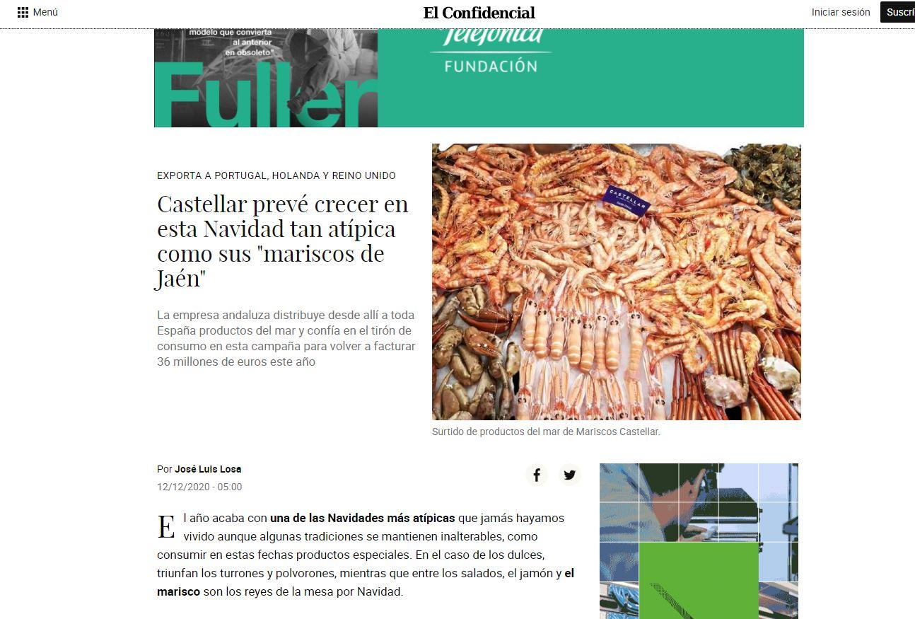 """EL CONFIDENCIAL-Castellar prevé crecer en esta Navidad tan atípica como sus """"mariscos de Jaén"""""""