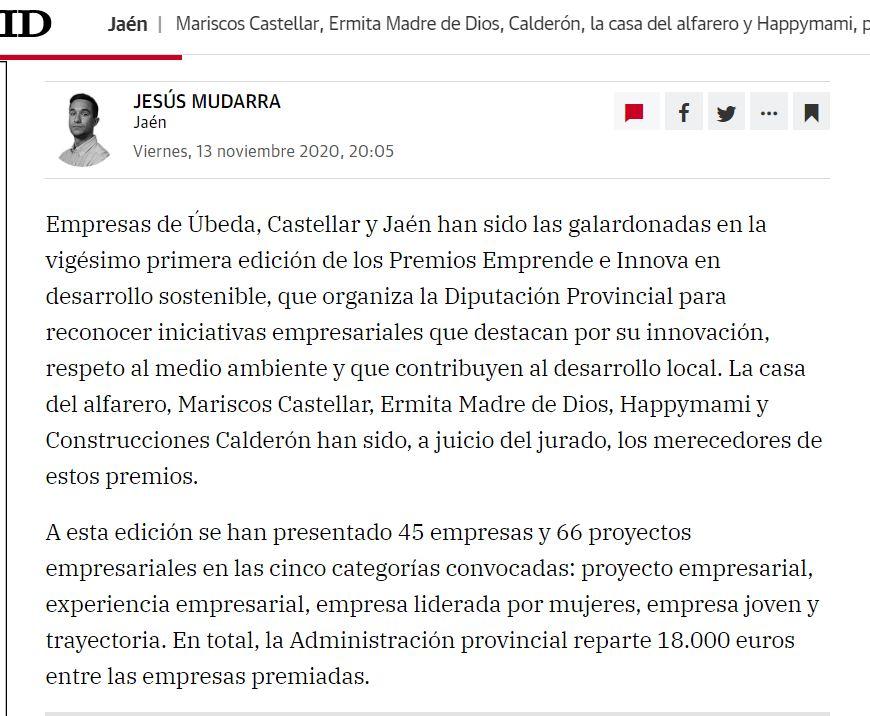 IDEAL-Mariscos Castellar, premio Emprende e Innova