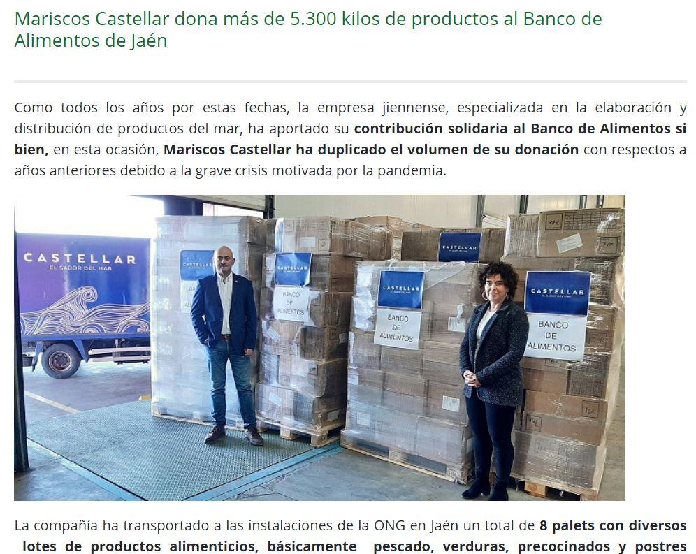 ONDA CERO-Mariscos Castellar dona más de 5.300 kilos de productos al Banco de Alimentos de Jaén