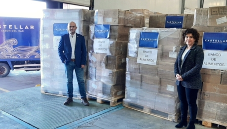 Mariscos Castellar donates more than 5300kg of food to Jaen's Food Bank