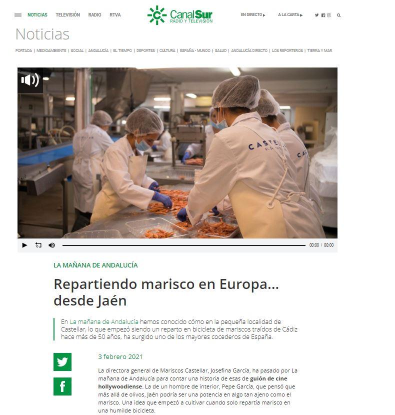 CANAL SUR RADIO ANDALUCÍA- Repartiendo marisco en Europa desde Jaén