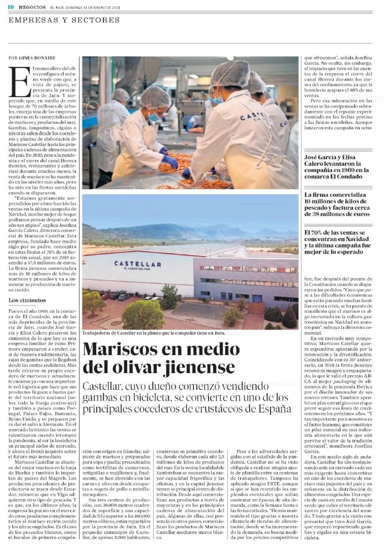 EL PAÍS-De repartir gambas en bicicleta a facturar 38 millones de euros vendiendo marisco en Jaén