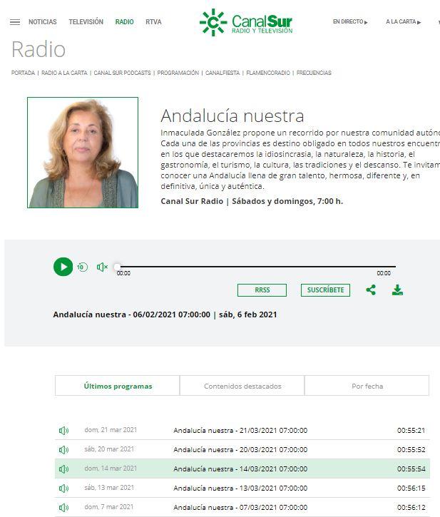 CANAL SUR RADIO ANDALUCÍA- El programa Andalucía Nuestra se hace eco de la historia de Mariscos Castellar